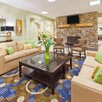 Holiday Inn Express Blowing Rock South lobby couches